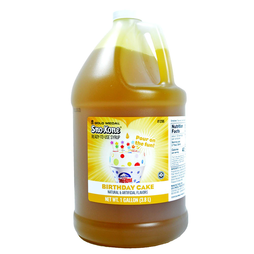 Awesome Gold Medal 1286 Birthday Cake Snow Cone Syrup Ready To Use Birthday Cards Printable Nowaargucafe Filternl