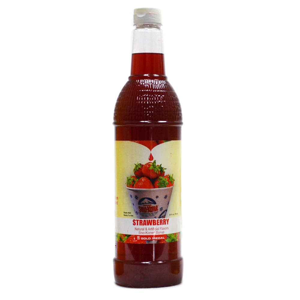 Gold Medal 1427 25 oz Strawberry Snow Cone Syrup, Ready-To-Use