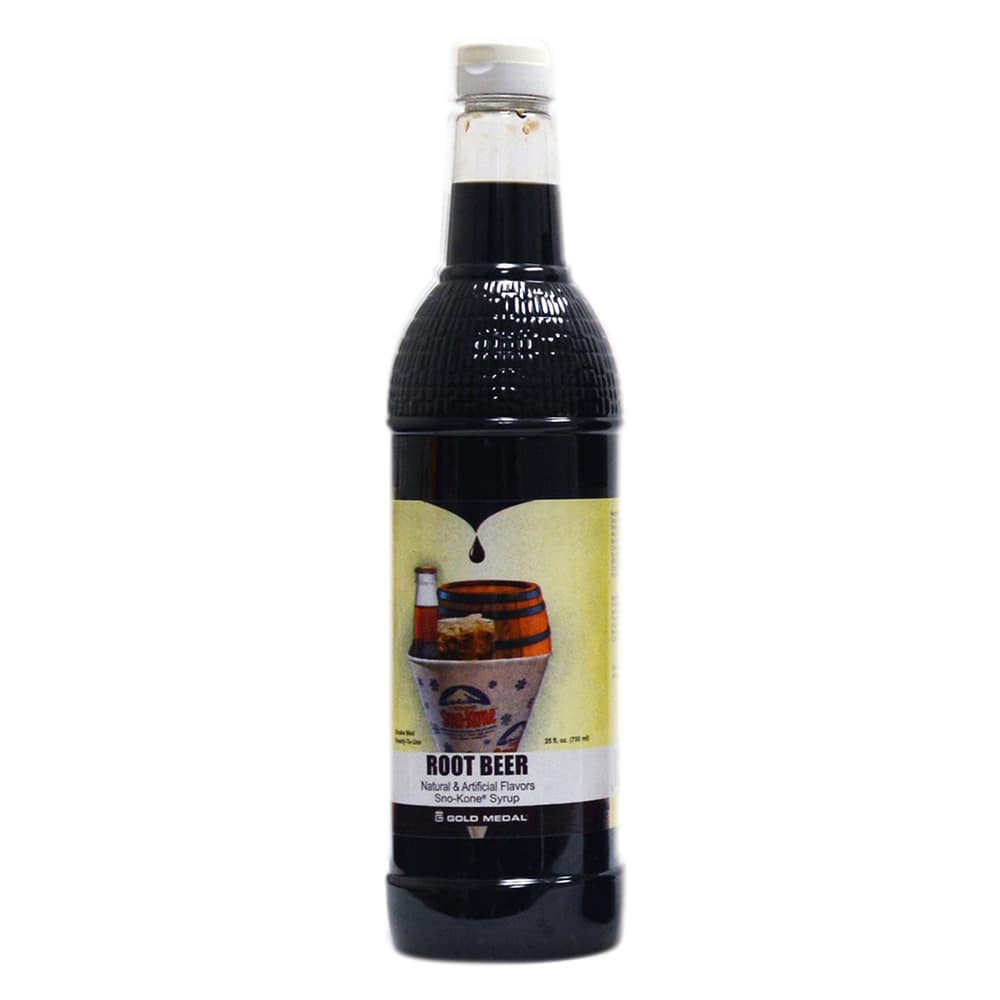 Gold Medal 1431 750-ml Sno-Kone Pour & Store Syrup Topping, Root Beer