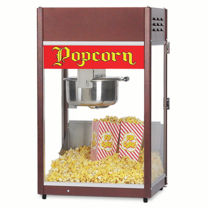 Gold Medal 1866 Ultra P-60 Popper Popcorn Machine w/ 6-oz EZ Kleen Kettle, 120v
