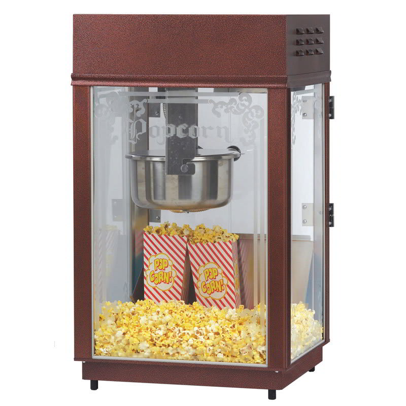 Gold Medal 1871 Heavy Duty Popcorn Machine w/ 6-oz EZ Kleen Kettle & Etched Glass, 120v