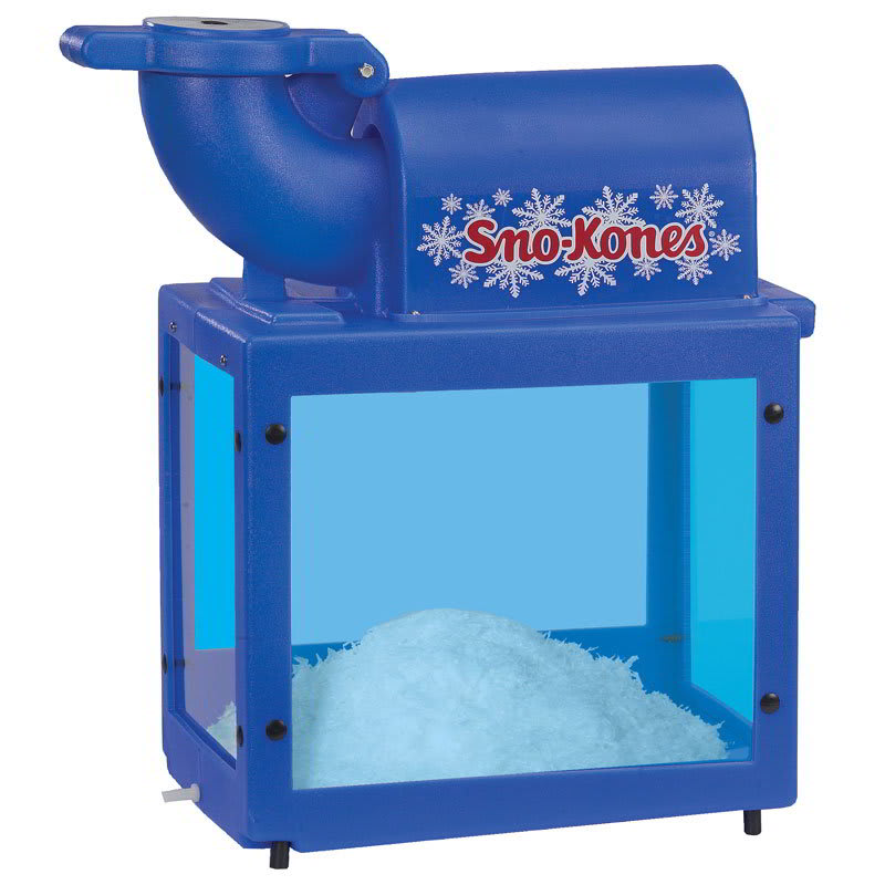 Gold Medal 1888 Sno-Kone Machine w/ 500-lbs/hr Capacity & Adjustable Blades, Blue