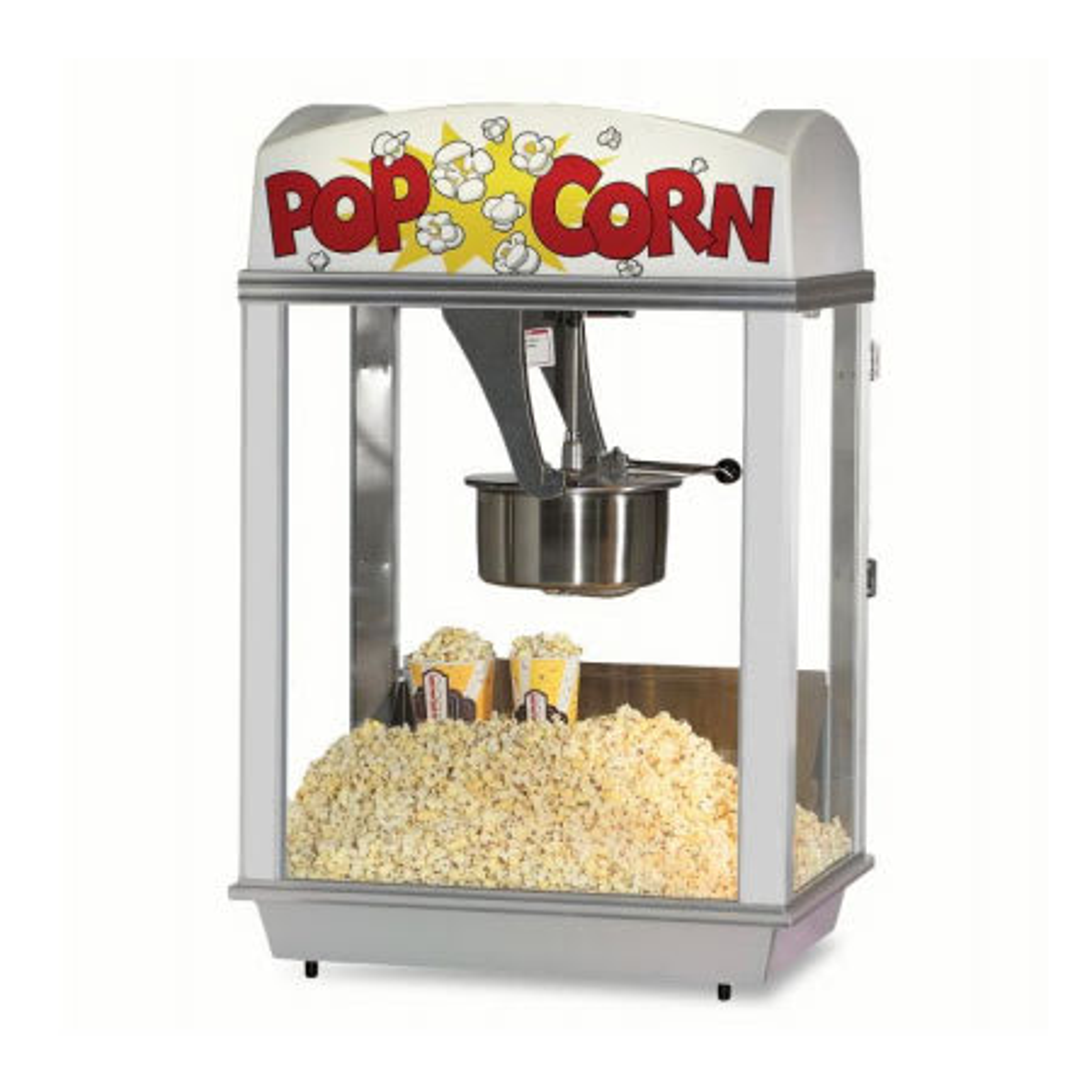 Gold Medal 2001 Citation Popcorn Machine w/ 16 oz Unimaxx Kettle & White Dome, 120v