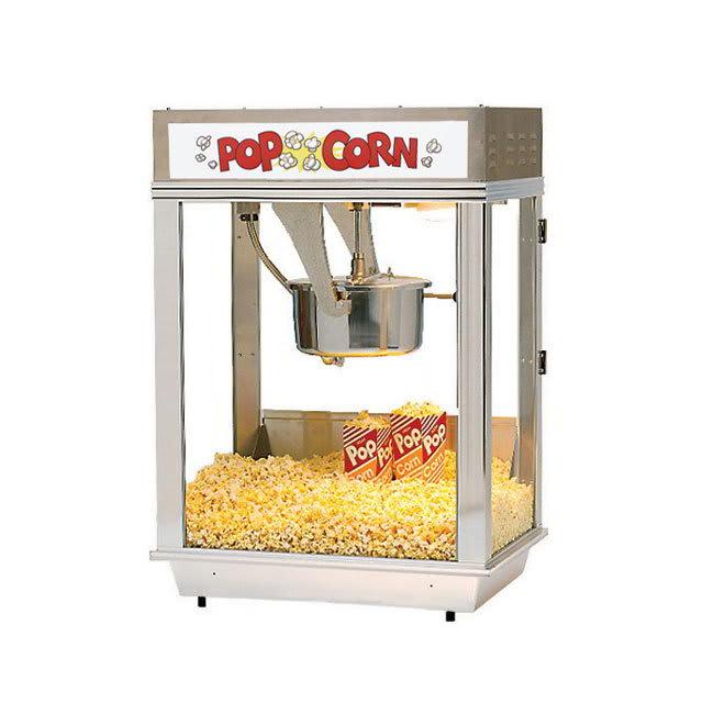 Gold Medal 2001 120240 Citation Popcorn Machine w/ 16-oz Unimaxx Kettle & White Dome, 120/240V