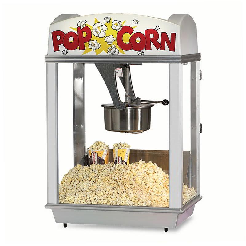 Gold Medal 2005 120208 Deluxe Whiz Bang Popcorn Machine w/ 12-oz Kettle & White Dome, 120/208V