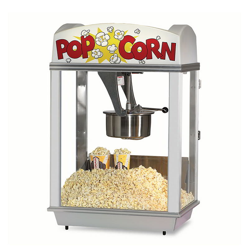 Gold Medal 2005ST Deluxe Whiz Bang Popcorn Machine w/ 12-oz Kettle & Stainless Dome, 120v