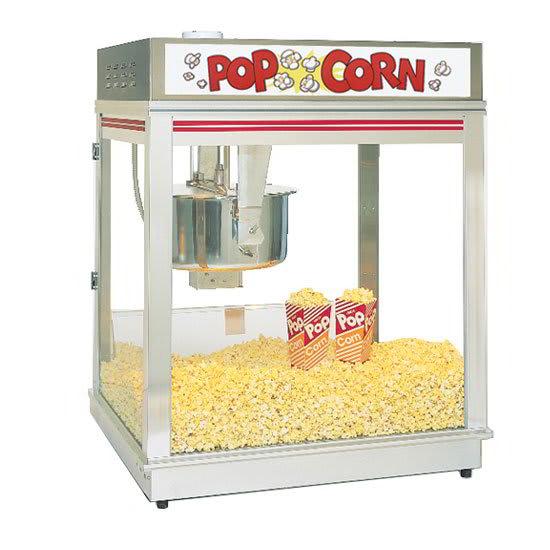 Gold Medal 2010E 120208 Pop-O-Gold Popcorn Machine w/ 20-oz Kettle, Counter Model, 120/208V