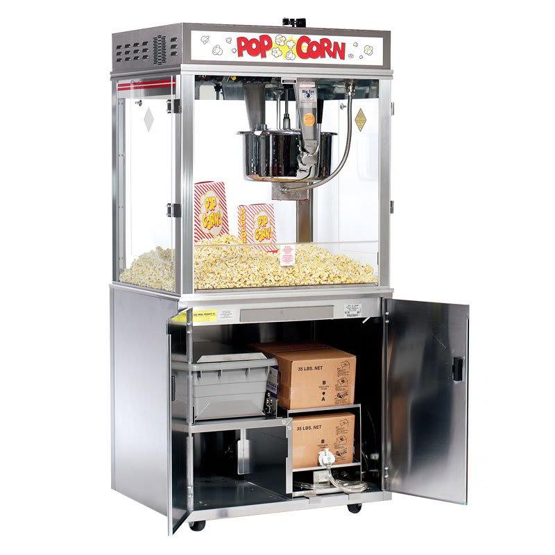 Gold Medal 2011EBS Pop-O-Gold Popcorn Machine on Base w/ 32-oz Kettle & Counter Model, 120/240V
