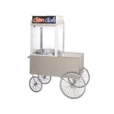 "Gold Medal 2012ST Popcorn Wagon w/ 4 Spoke Wheels, Stainless, 64"" x 34"""