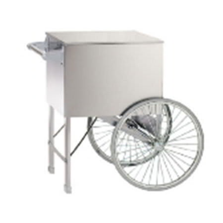 Gold Medal 2015ST Popcorn Cart w/ 2-Spoke Wheels, Stainless, 38x27""