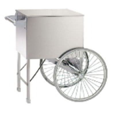 "Gold Medal 2015W Popcorn Cart w/ 2-Spoke Wheels, White, 38"" x 27"""