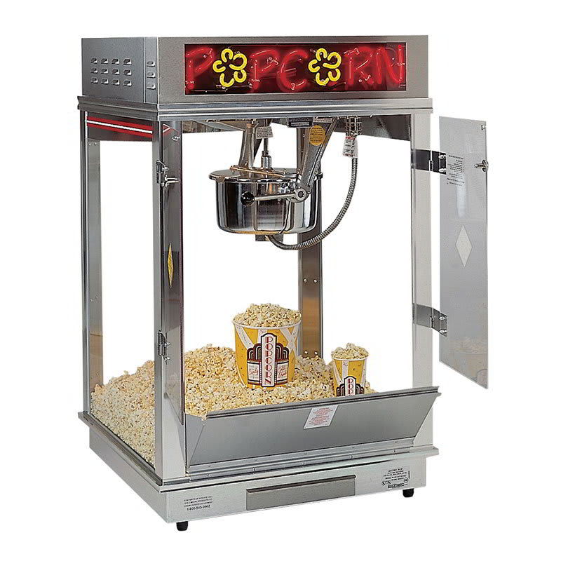 Gold Medal 2023E Astro Pop 16 Popcorn Machine w/ 16-oz Unimaxx Kettle & Stainless Dome, Counter, 120v