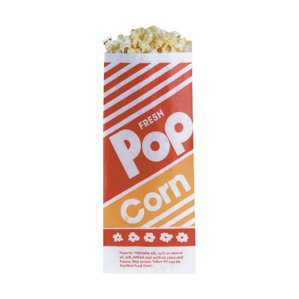 Gold Medal 2052 .6 oz Disposable Popcorn Bags