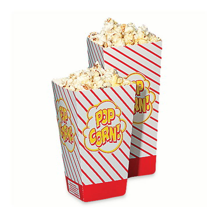 Gold Medal 2058 1.75 oz Large Scoop Disposable Popcorn Boxes, 500/Case