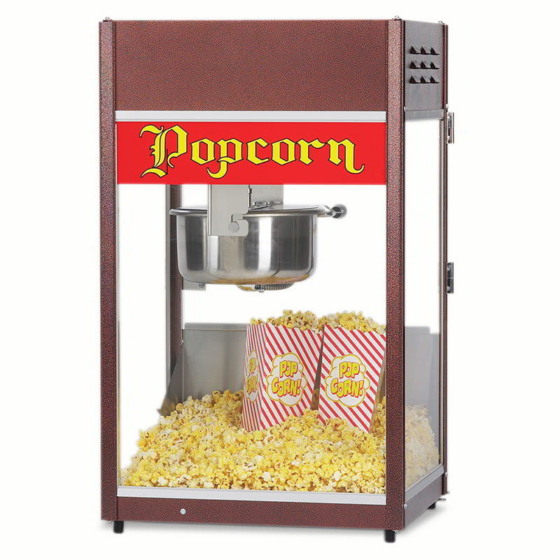 Gold Medal 2086 120240 Unimaxx P-60 Popcorn Machine w/ 6-oz Stainless Kettle & Cooper Dome, 120/240V