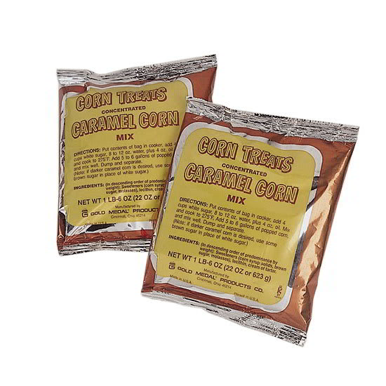 Gold Medal 2094 Concentrated Caramel Popcorn Treat Mix w/ (12) 22 oz Pouches