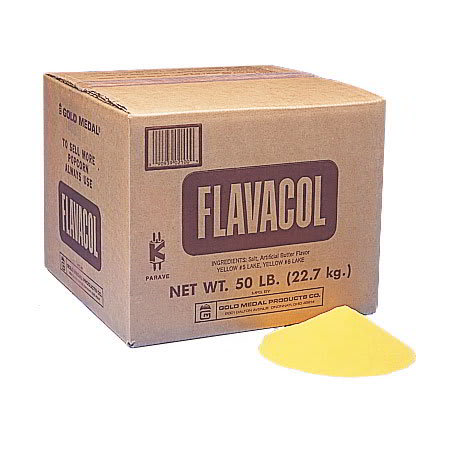 Gold Medal 2100 Original Flavacol Seasoning Salt 50 lb Bulk Box