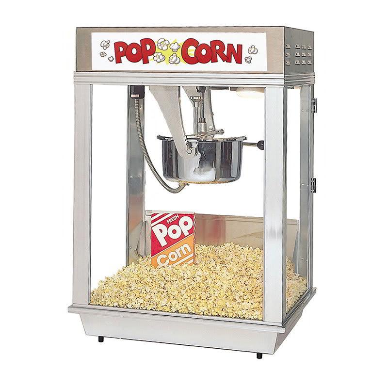 Gold Medal 2102 Deluxe Citation Popcorn Machine w/ White Dome & 14-oz Unimaxx Kettle
