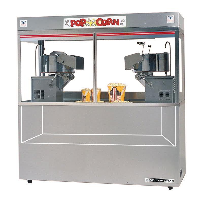 Gold Medal 2123ED 120240 Cornado Popcorn Machine w/ (2) 36-oz Kettles & 2-Bag-In-A-Box System, 120/240V