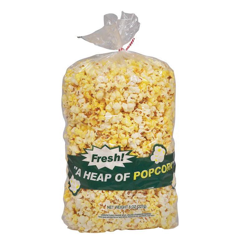 """Gold Medal 2125 18"""" Disposable Heap O Popcorn Bags w/ 3 oz Capacity, 1,000/Case"""