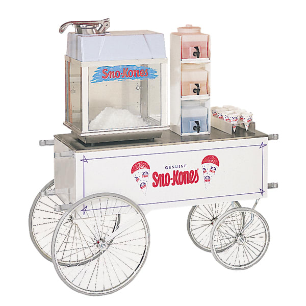 "Gold Medal 2129SK Food Cart for Sno Kones w/ Graphics, 48"" x 20"", White"