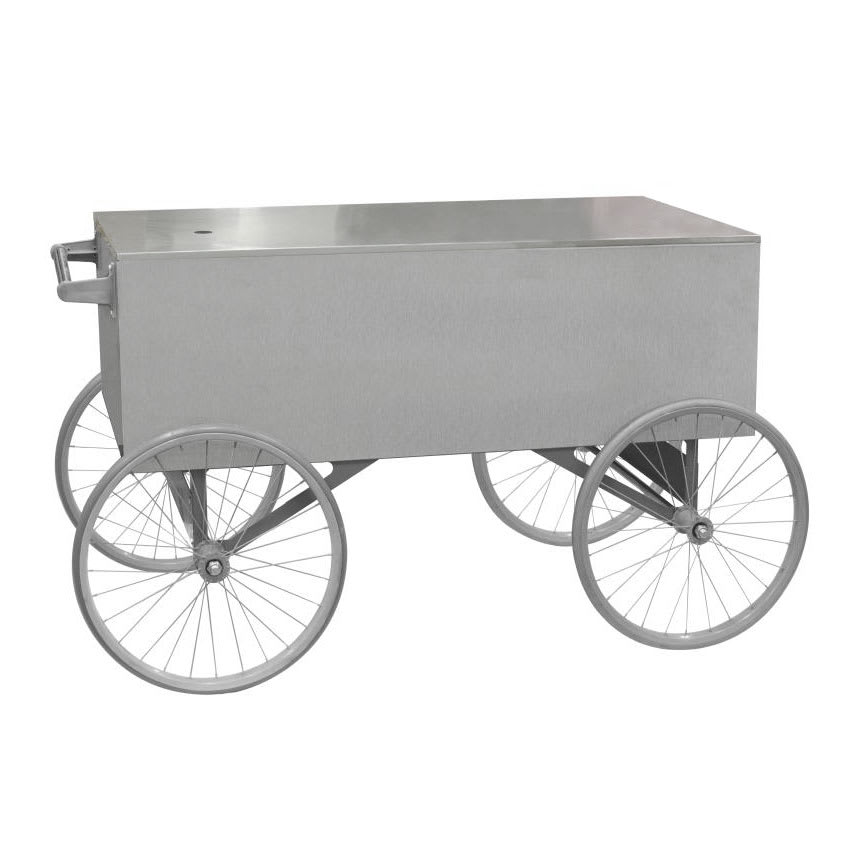 "Gold Medal 2129ST Food Cart for Popcorn w/ Cover & Graphics, 57""L x 26""W x 90""H, Stainless"