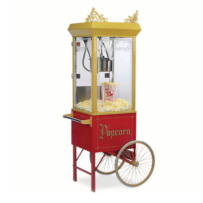 Gold Medal 2131 120240 8-oz Gay 90s Pinto Popcorn Machine w/ Etched Glass & Gold Dome, 120/240V