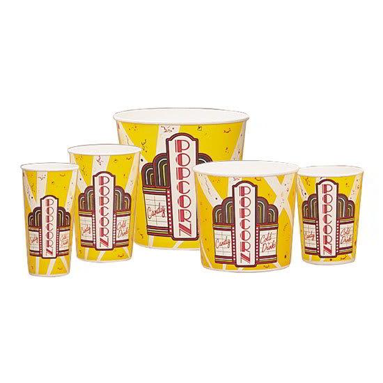 Gold Medal 2132 24 oz Premier Design Disposable Popcorn Butter Cups, 1,000/Case