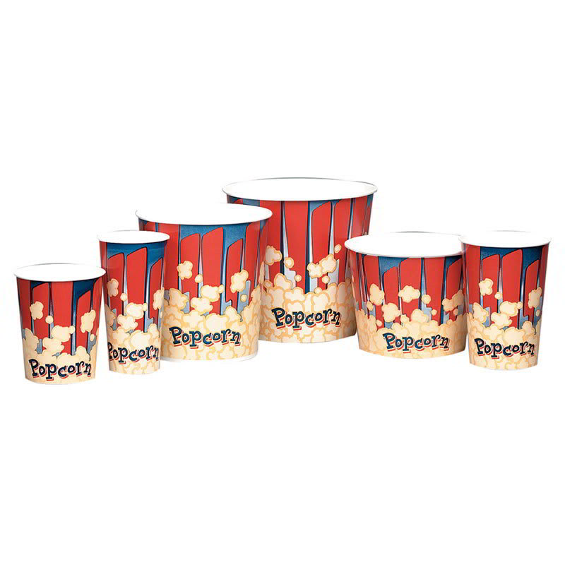 Gold Medal 2132RB 24 oz Red Disposable Popcorn Butter Cups, 1,000/Case