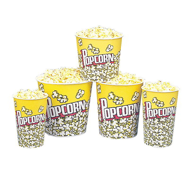 Gold Medal 2133PC 46 oz Popcorn Design Disposable Popcorn Cups, 500/Case