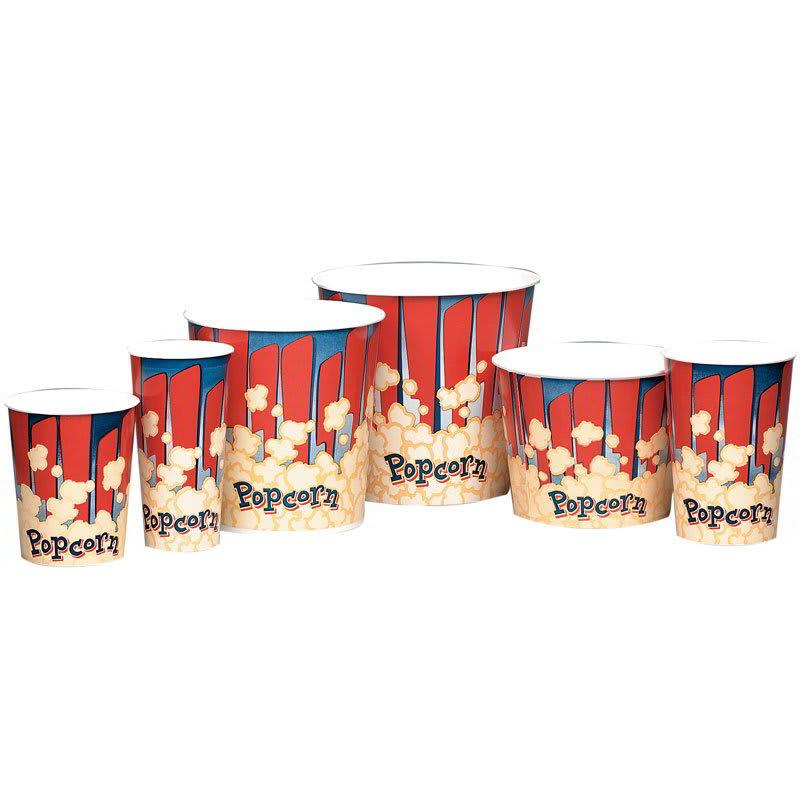 Gold Medal 2133RB 44 oz Red Disposable Popcorn Tubs, 600/Case