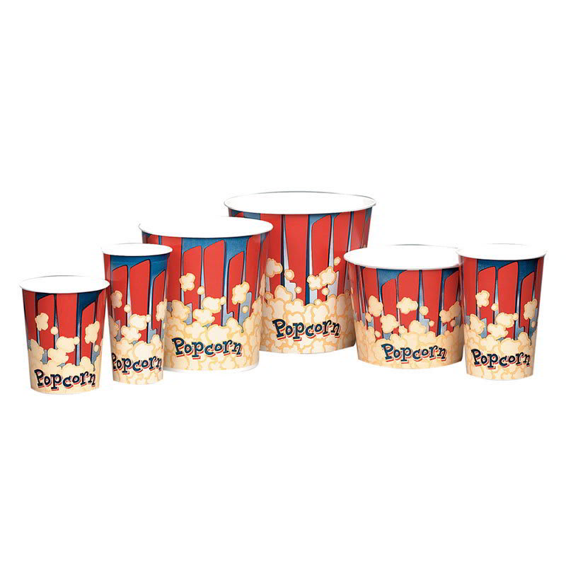 Gold Medal 2134RB 85-oz Red Disposable Popcorn Butter Cups, 300/Case