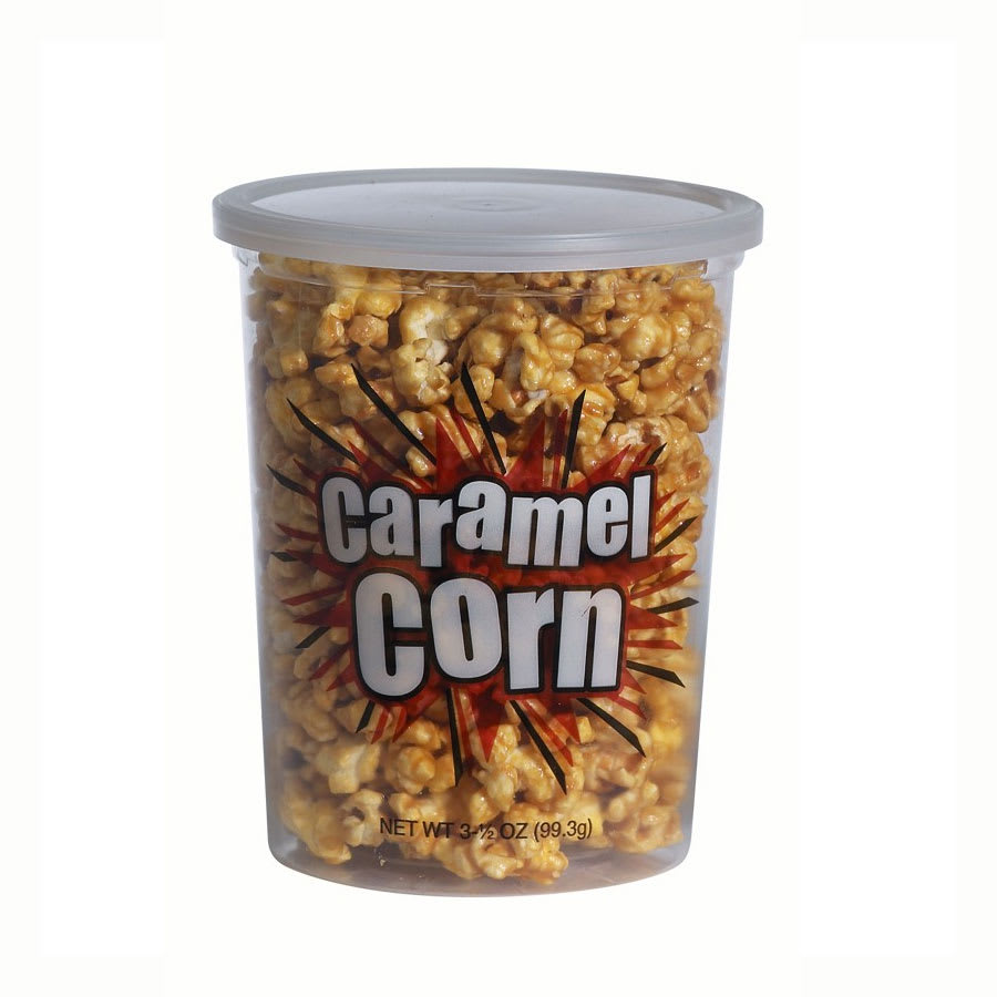 Gold Medal 2135 5 oz Small Disposable Caramel Corn Container w/ Lids