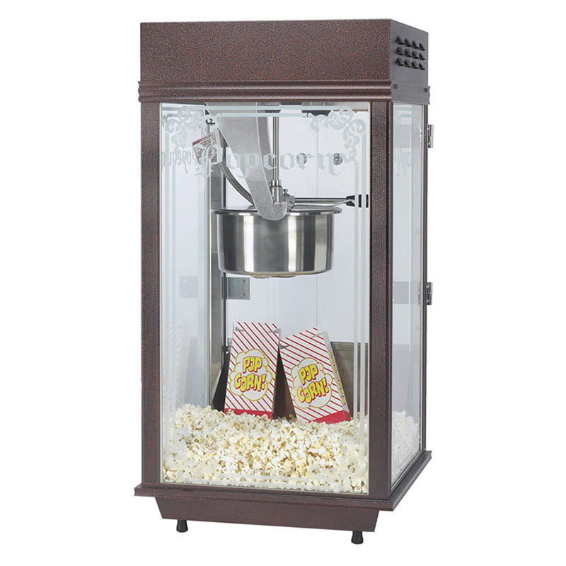 Gold Medal 2147 120208 Deluxe Pinto Popcorn Machine w/ 8-oz Kettle & Copper Vein Finish, 120v