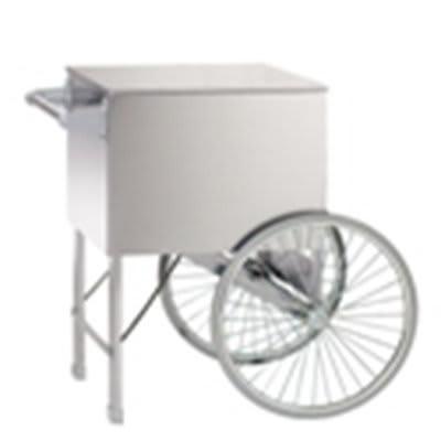 Gold Medal 2148CW 20-in Steerable Cart w/ 2-Spoke Wheels, White