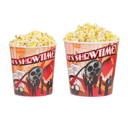 Gold Medal 2164T 64-oz Showtime Design Disposable Popcorn Cup, 360/Case