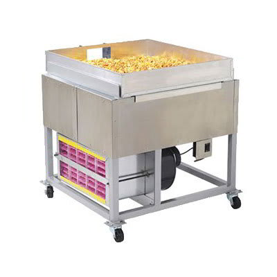 Gold Medal 2169 Large Caramel Corn Cooling Pan w/ Chute & Door, Anodized Aluminum