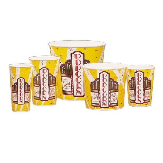 Gold Medal 2170 170 oz Premier Design Disposable Popcorn Butter Tubs, 150/Case