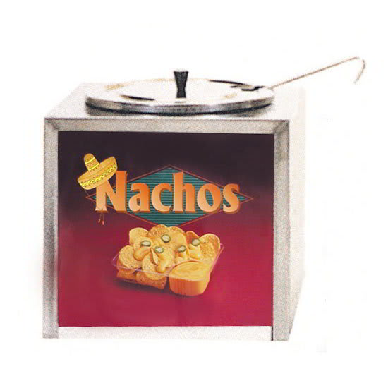Gold Medal 2191 Cabinet Design Dipper Style Nacho Cheese Warmer w/ Lighted Sign, 120v