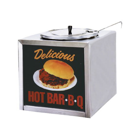 Gold Medal 2196 Barbecue Warmer w/ 2 oz Dipper & Adjustable Thermostat, Sign, Stainless, 120v