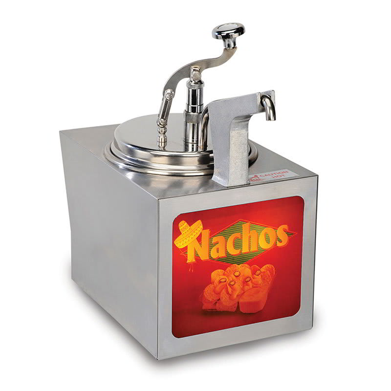 Gold Medal 2197NS 11 qt Nacho Cheese Warmer w/ Heated Spout, Cabinet Design, 120v