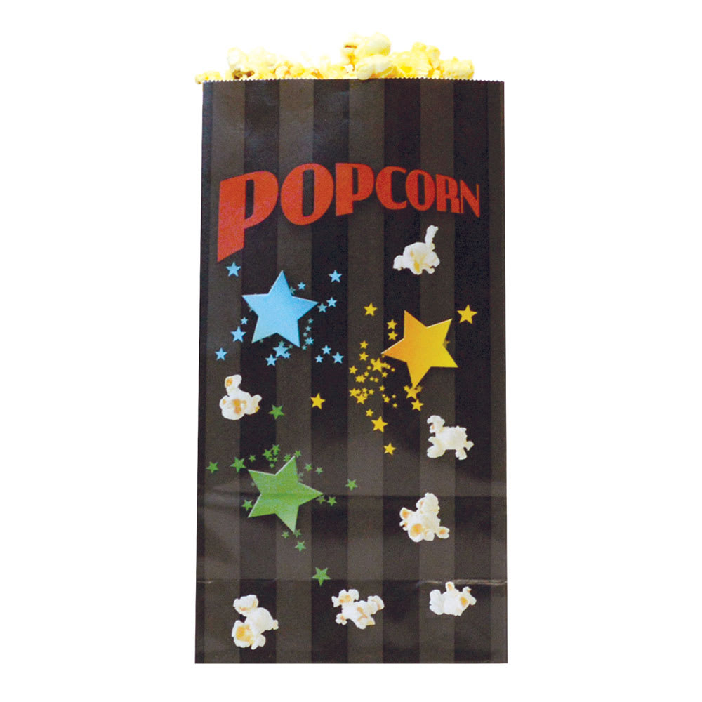 Gold Medal 2208B 46 oz Funburst Design Disposable Popcorn Bags, Laminated, 1,000/Case