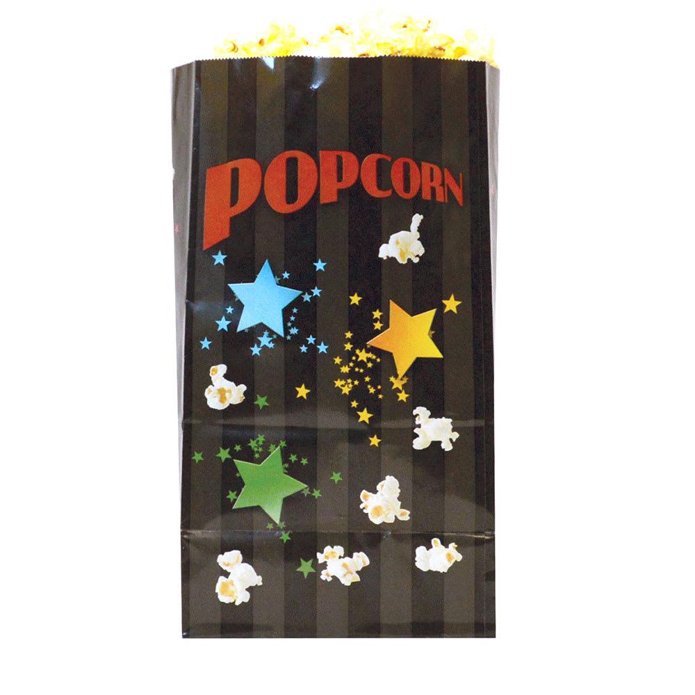 Gold Medal 2209B 85-oz Disposable Popcorn Bags - Laminated, Funburst