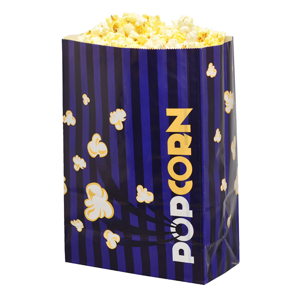 Gold Medal 2210 170 oz Purple Disposable Popcorn Bags, Laminated, 500/Case