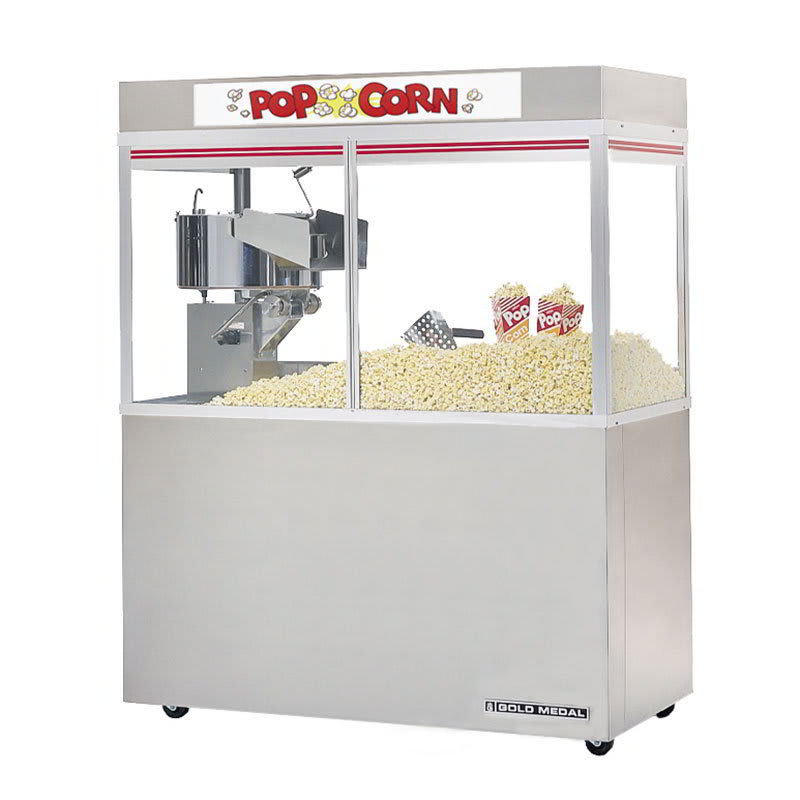 "Gold Medal 2228ED Cornado Popcorn Bar w/ 48-oz Kettle & 48"" Enclosed Cabinet, 120/208v"