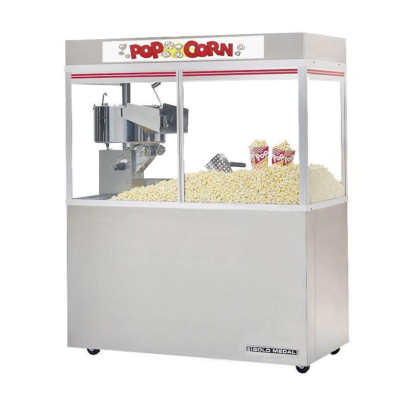 """Gold Medal 2228EDN Cornado Popcorn Bar w/ 48"""" Enclosed Cabinet & Neon Dome, 120/208v"""