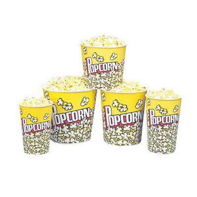 Gold Medal 2230PC 130 oz Popcorn Design Disposable Popcorn Cups, 150/Case