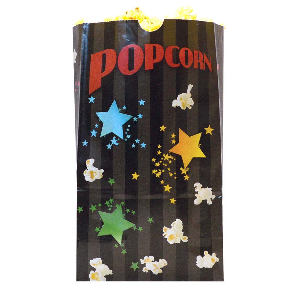 Gold Medal 2232B 130 oz Funburst Design Disposable Popcorn Bags, Laminated, 500/Case
