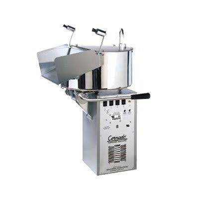 Gold Medal 2258EC Compact Cornado Popping Unit w/ 10-gal/3-min Capacity & Right Hand Dump, 120/208v