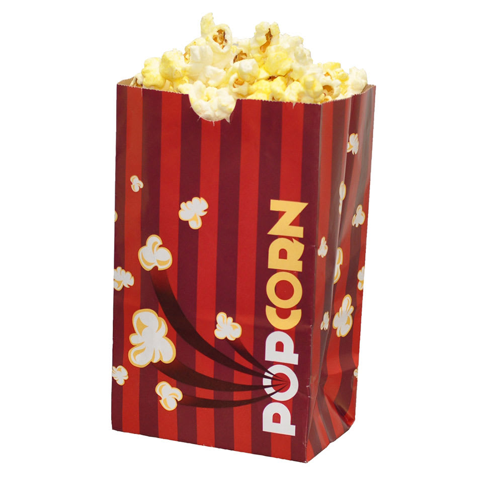 Gold Medal 2259 32 oz Red Disposable Popcorn Bags, Laminated, 1,000/Case